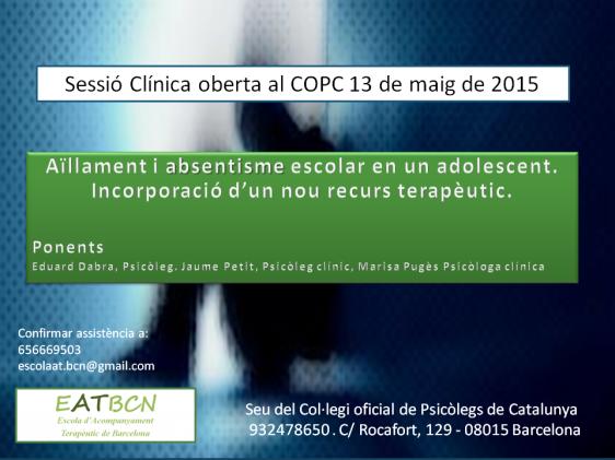 Sessió Clínica 13 de maig de 2015 1
